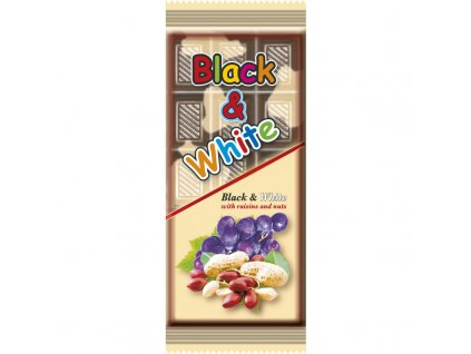 Black & White kakaové pochoutka s rozinkami 80g