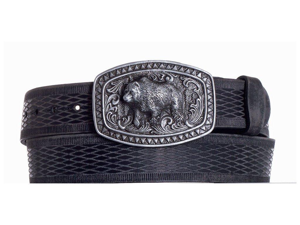 černý kožený pásek medvěd vrb