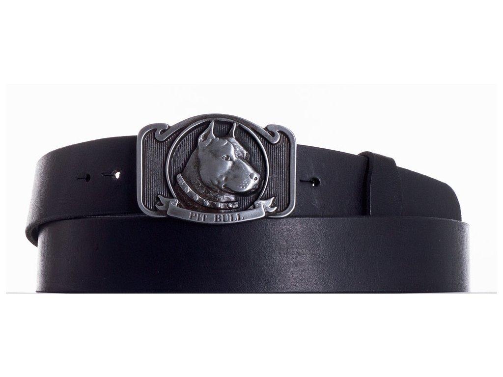 černý kožený pásek pitbul