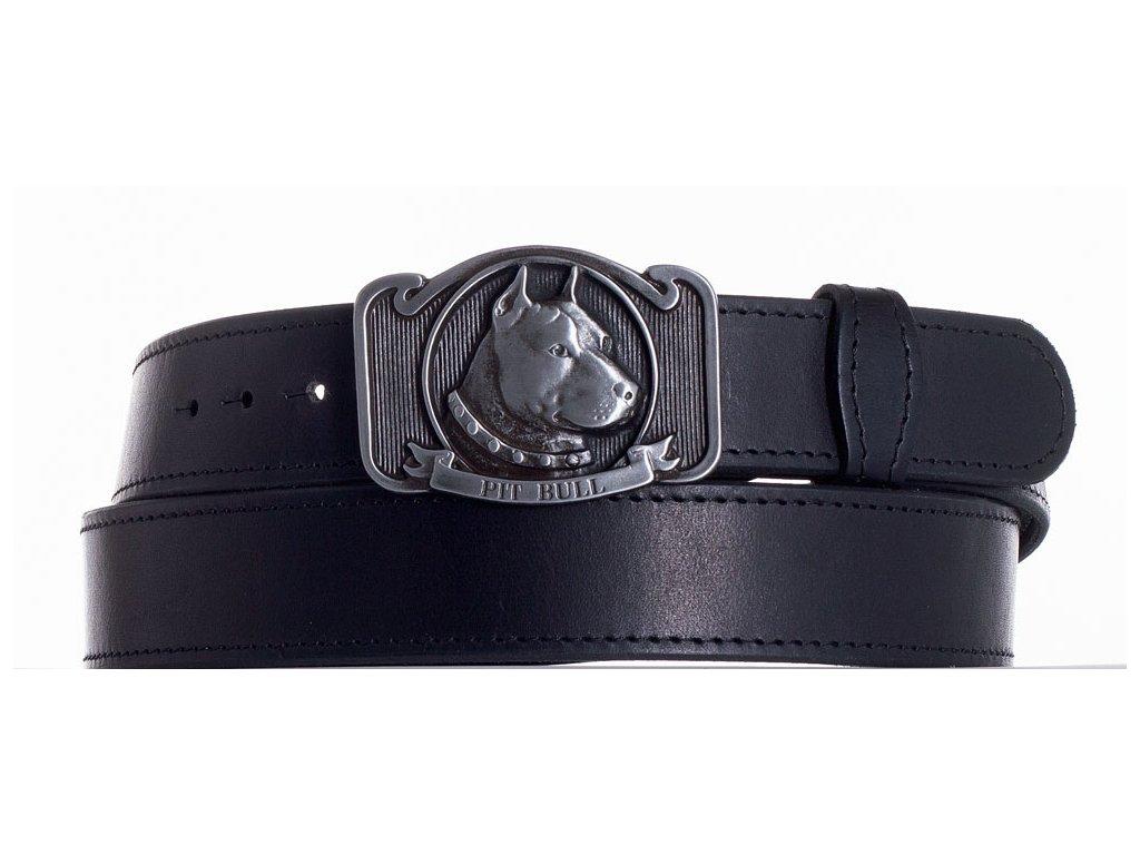černý kožený pásek pitbul obč