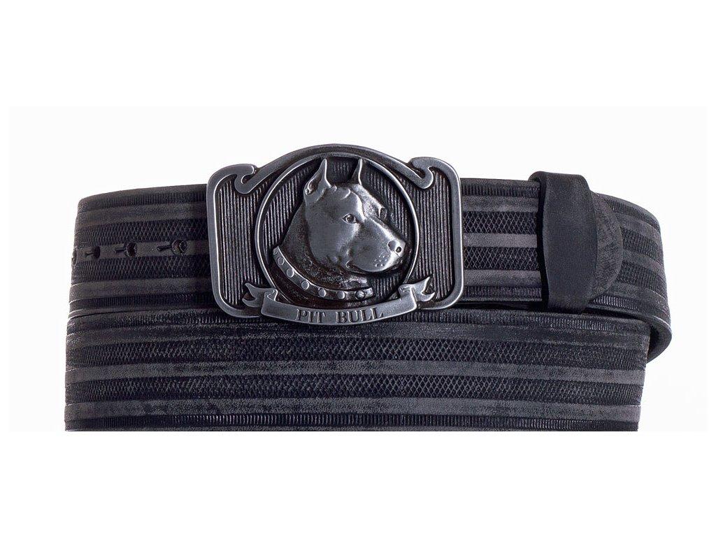 černý kožený pásek pitbul prb
