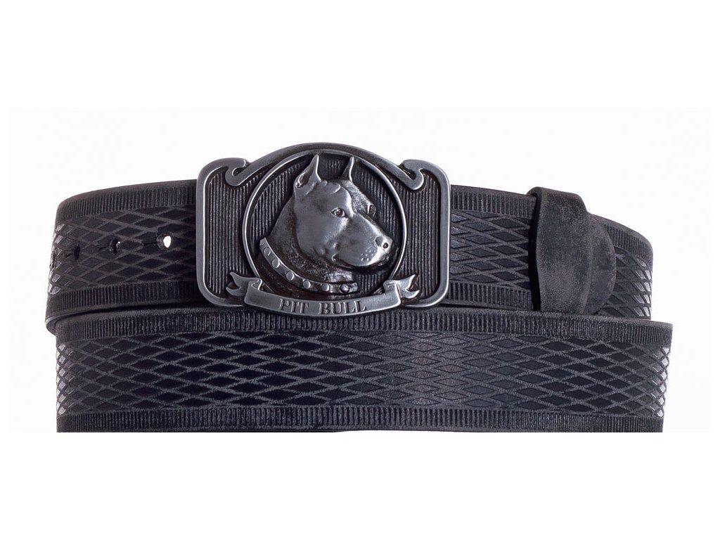 černý kožený pásek pitbul vrb