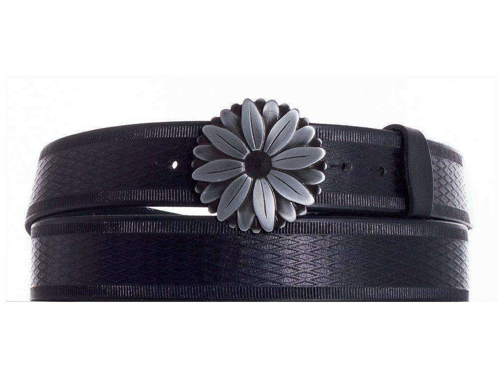 černý kožený opasek kopr vr