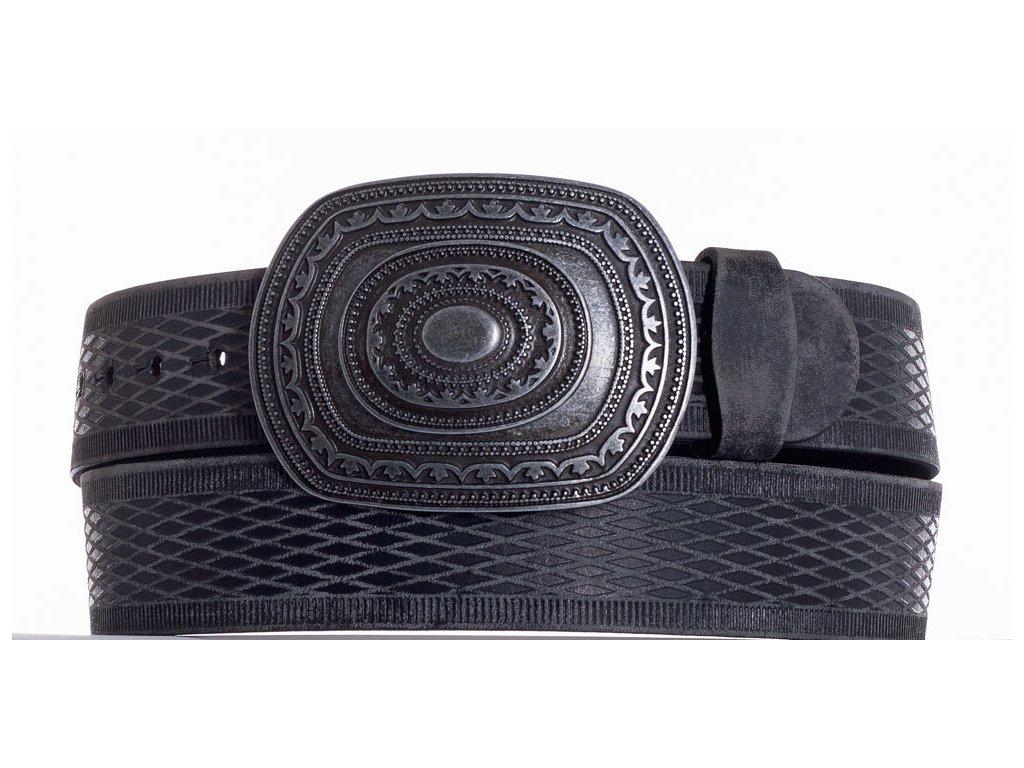 Černý kožený pásek aztec vrb