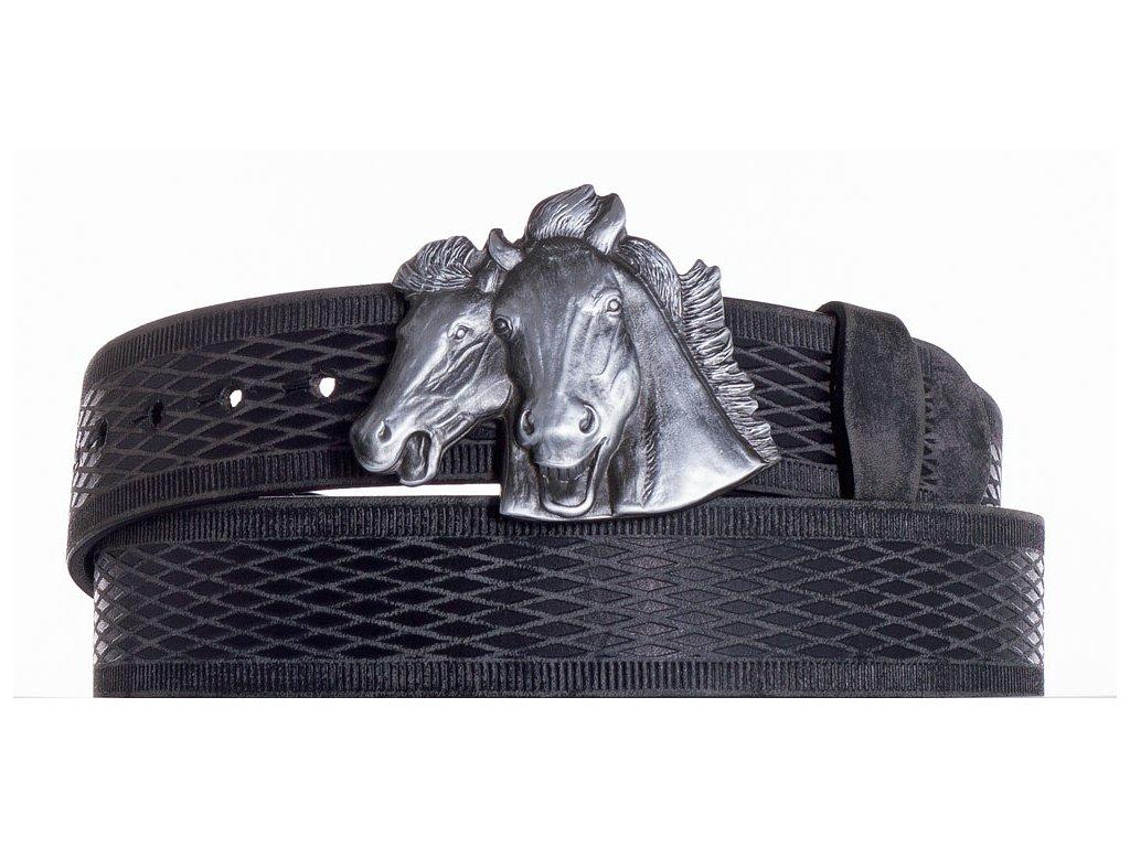 černý kožený pásek koně vrb