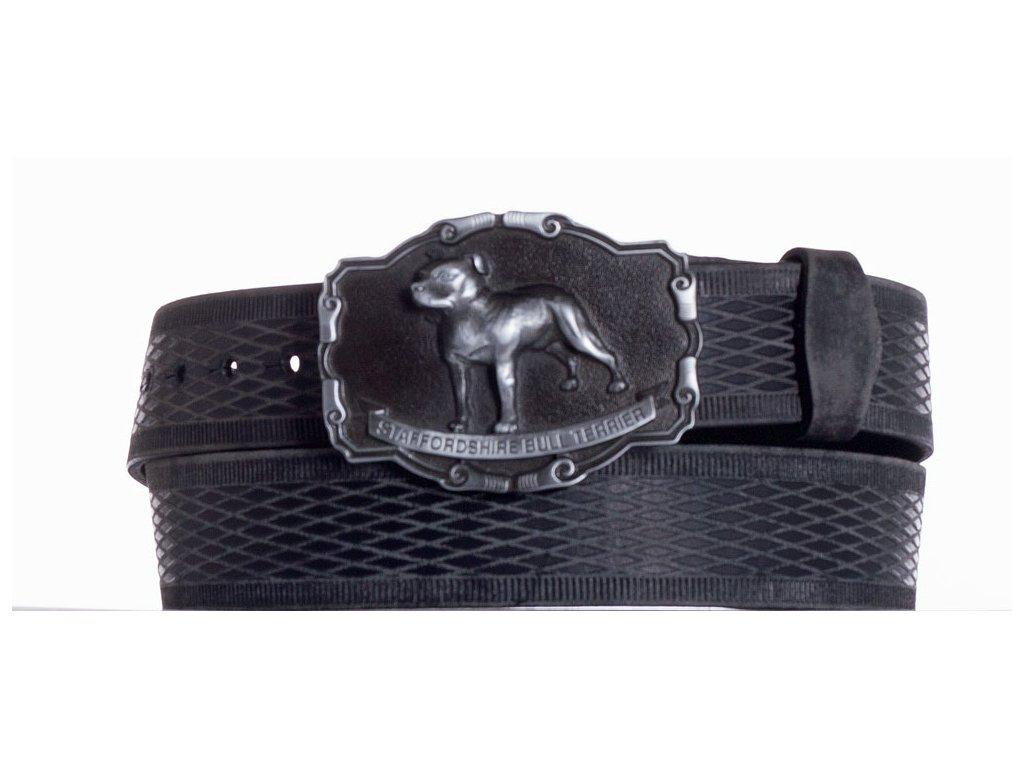 černý kožený pásek staf vrb