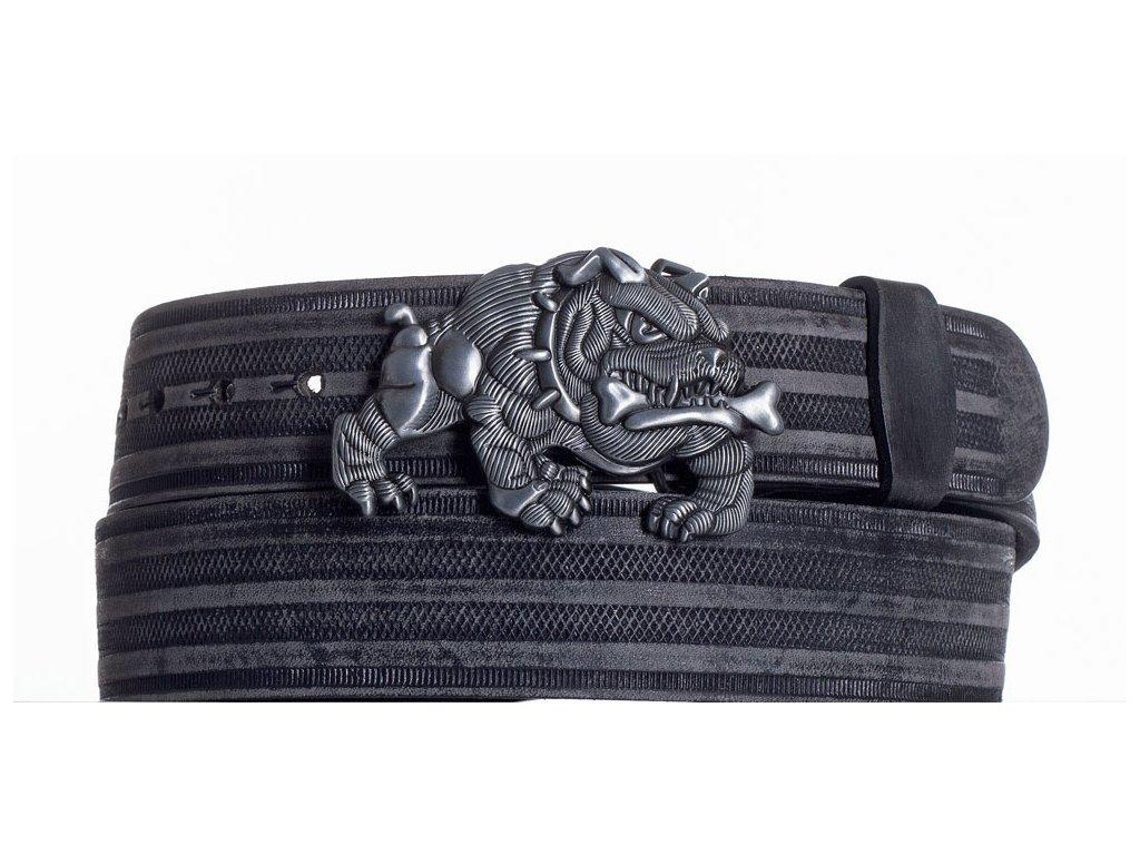 Kožený pásek buldog prb