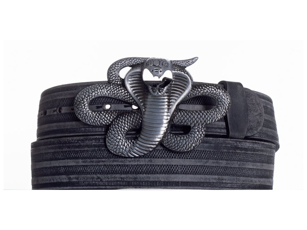 Kožený pásek kobra prb
