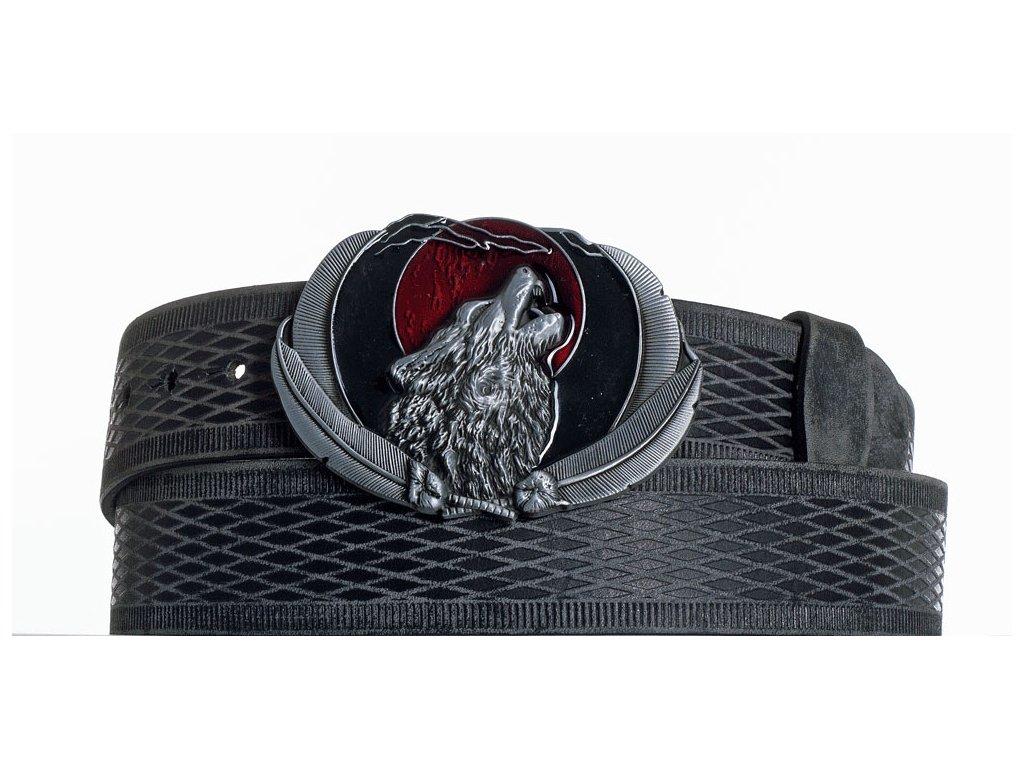 Kožený pásek vlk vrb