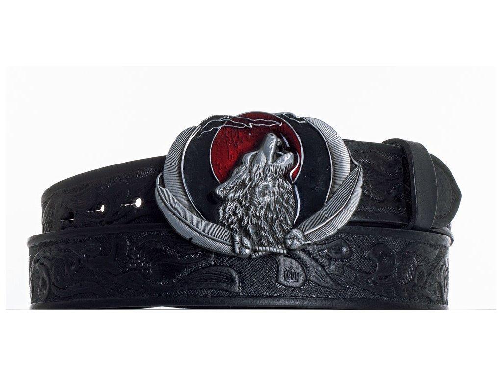 Kožený pásek vlk vz