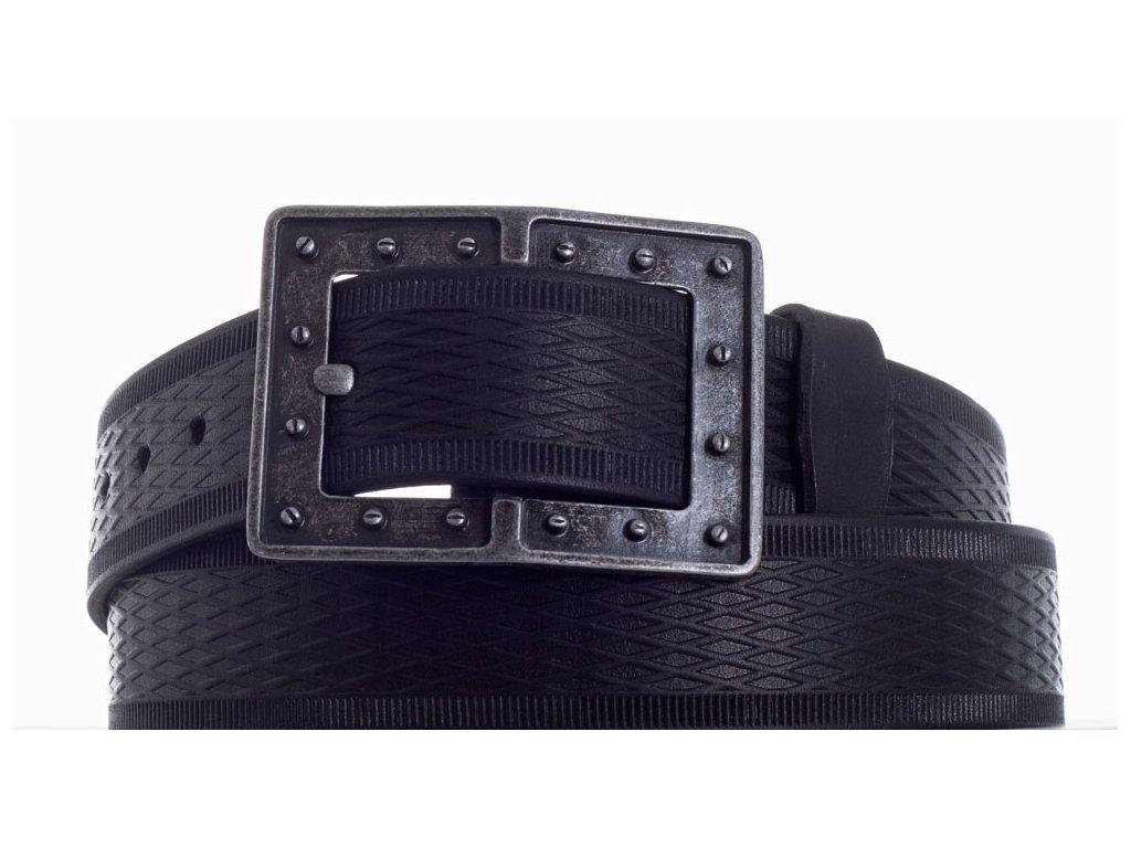 černý kožený pásek 73 vr
