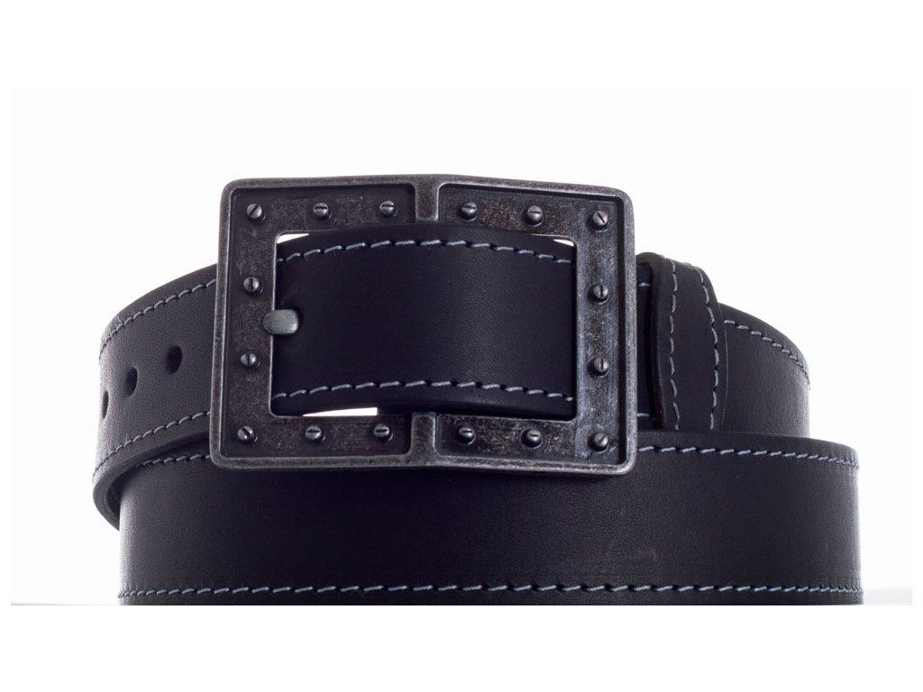 černý kožený pásek 73 ob