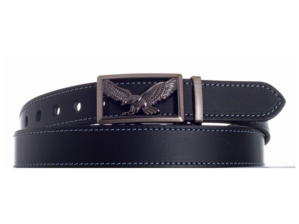 černý kožený pásek orel šob