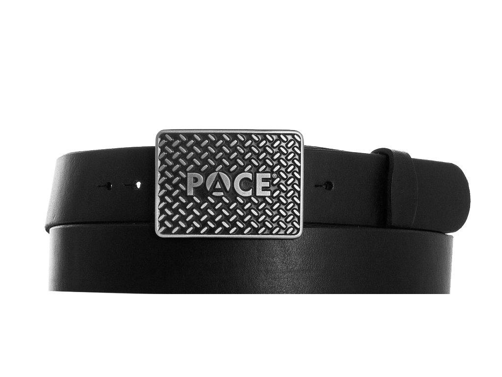 černý kožený opasek PACE