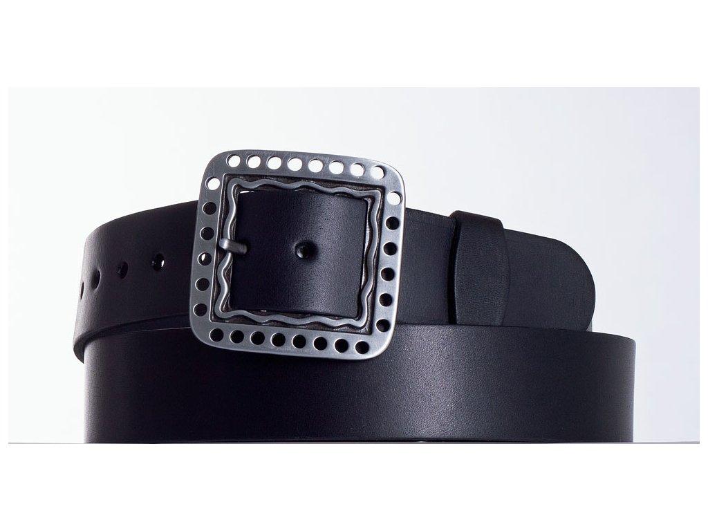 Černý kožený pásek 1474