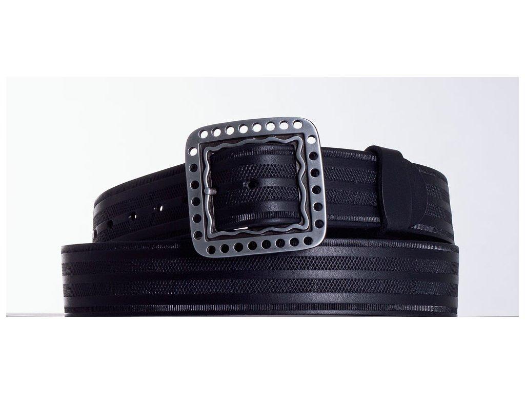 Černý kožený pásek 1474 pr