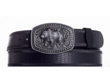 černý kožený pásek medvěd vr