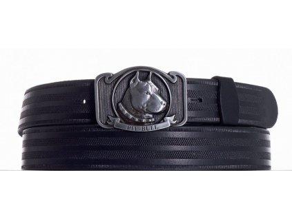 černý kožený pásek pitbul pr