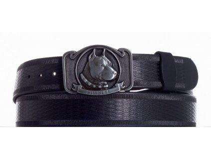 černý kožený pásek pitbul vr