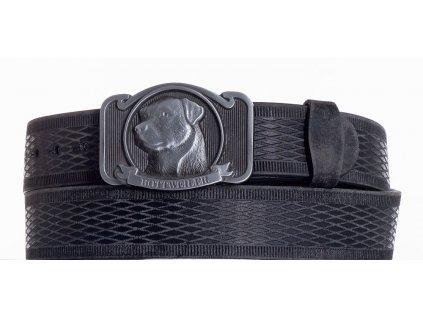 černý kožený pásek rotwajler vrb