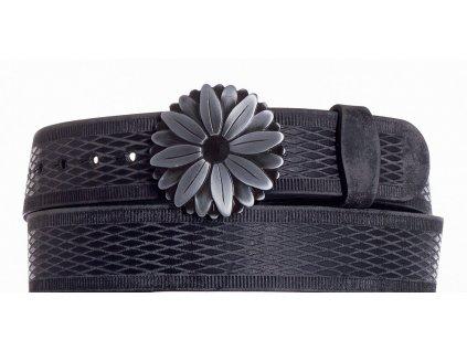 černý kožený opasek kopr vrb