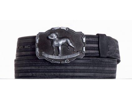 černý kožený pásek staf prb