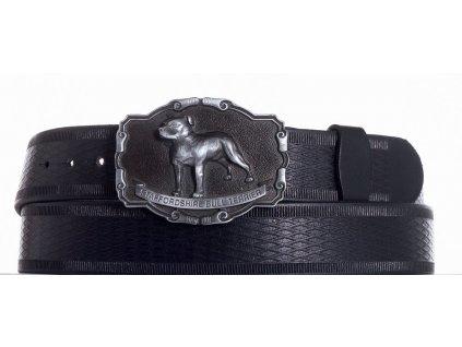 černý kožený pásek staf vr
