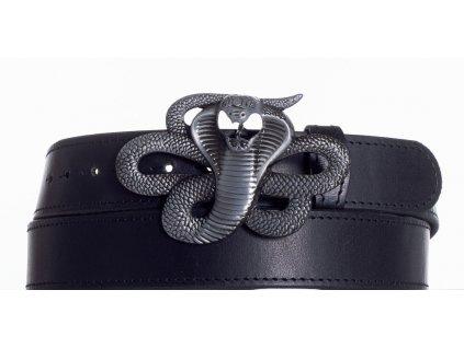 Kožený pásek kobra obč