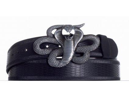 Kožený pásek kobra vr