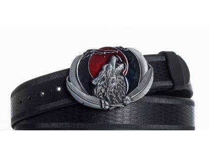 Kožený pásek vlk vr
