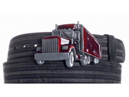 Pásek černý kožený kamion prb