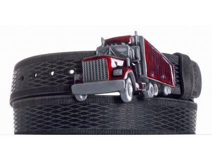 Pásek černý kožený kamion vrb
