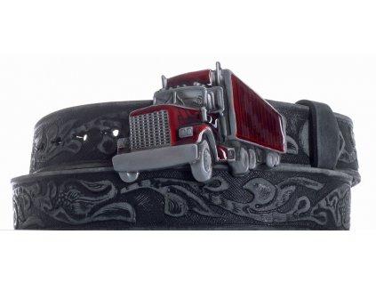 Pásek černý kožený kamion vzb