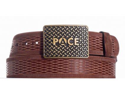 Hnědý kožený pásek pace vrb