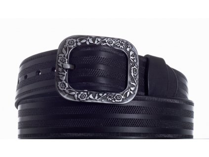černý kožený pásek 69 pr