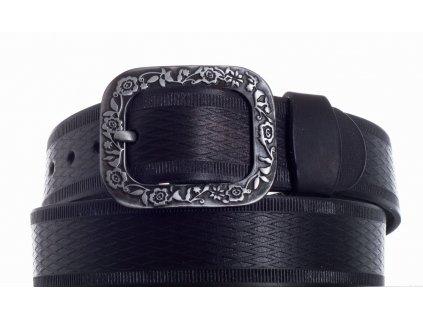 černý kožený pásek 69 vr