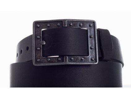 černý kožený pásek 73