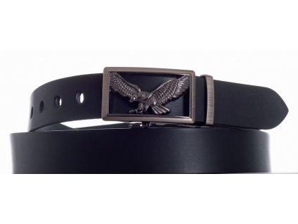 černý kožený pásek orel