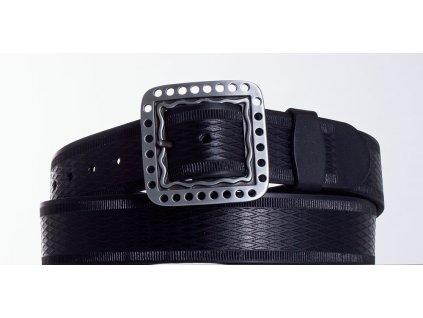 Černý kožený pásek 1474 vr