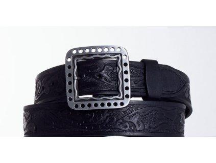 Černý kožený pásek 1474 vz