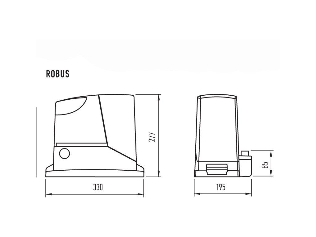 pohon pre posuvn br nu robus 400 kit open. Black Bedroom Furniture Sets. Home Design Ideas