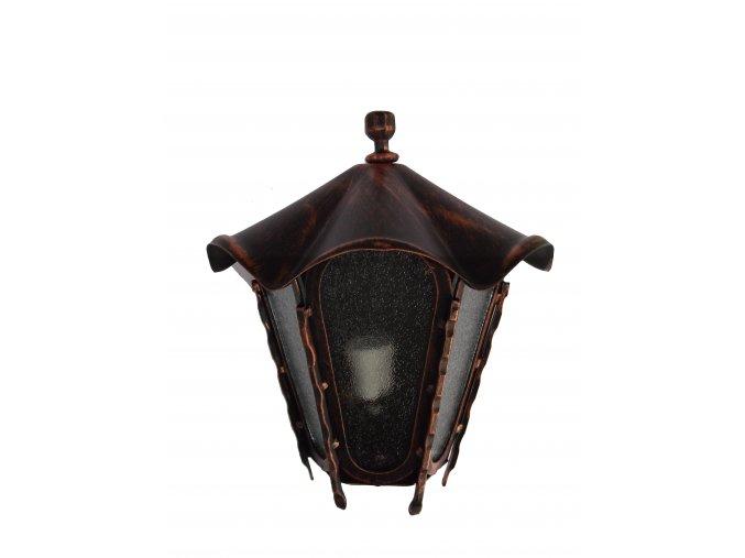 Lucerna, lampa na stenu - polovičná (Meď)