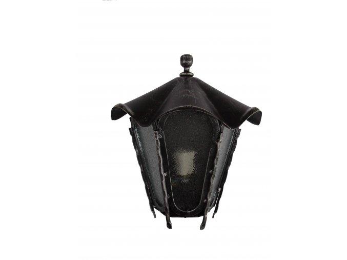 Lucerna, lampa na stenu - polovičná (striebro)