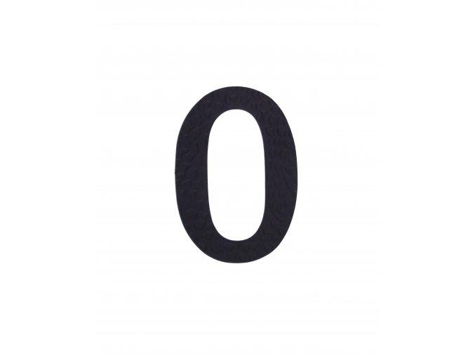 """Kovaná číslica """"0"""" čierna"""