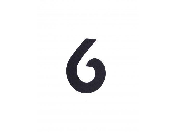 """Kovaná číslica """"6"""" čierna"""