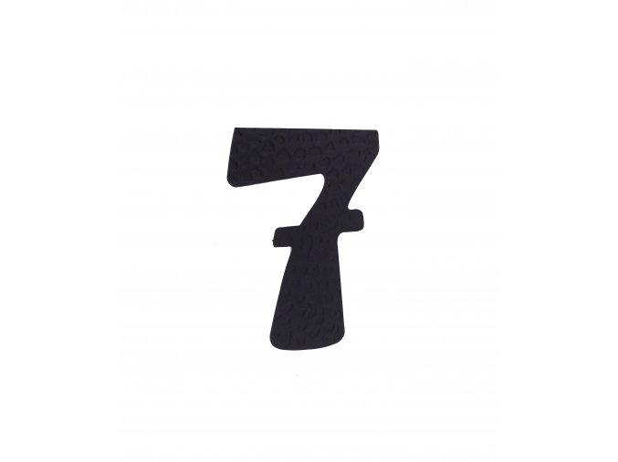 """Kovaná číslica """"7"""" čierna"""