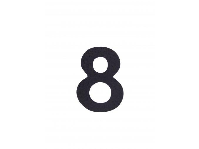 """Kovaná číslica """"8"""" čierna"""