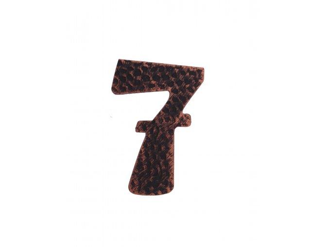 """Kovaná číslica """"7"""" meď"""