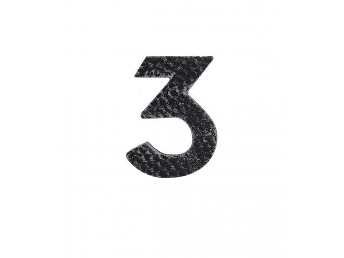 """Kovaná číslica """"3"""" striebro"""