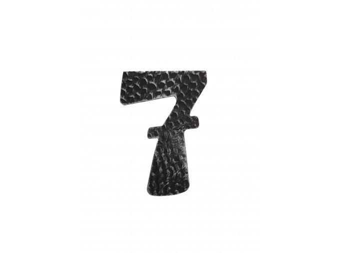 """Kovaná číslica """"7"""" striebro"""
